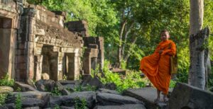 Monks at Banteay Chhmar